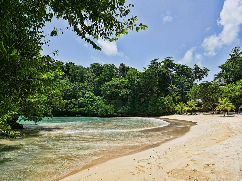 Frenchman's Cove, one of the most beautiful places in Jamaica