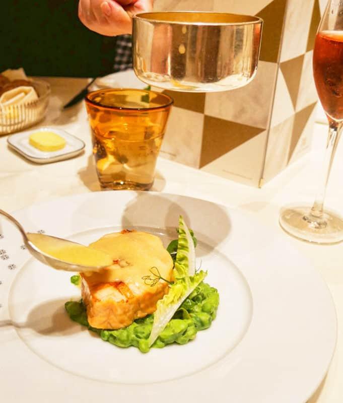 Dinner at the Dorchester Grill, Dorchester Hotel, Park Lane, Mayfair, London