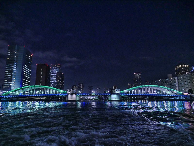 A Tokyo river cruise from Hinode Pier, Tokyo, Japan