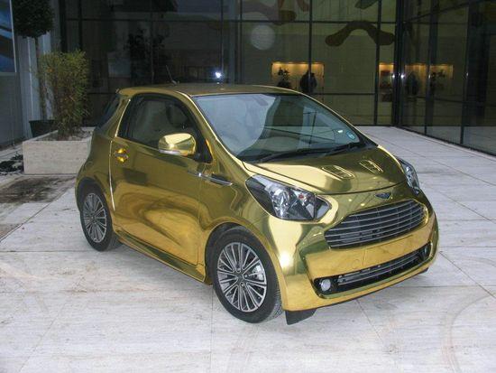 Aston Martin Cygnet In Gold Luxuryes - Aston martin cygnet