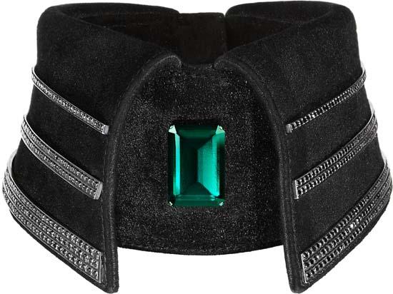 The $37,500 Black Diamond Collar Designed by Karl Lagerfeld