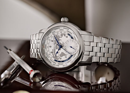 Frederique Constant Classics Manufacture Worldtimer Bracelet - Ref: FC-718WM4H6B