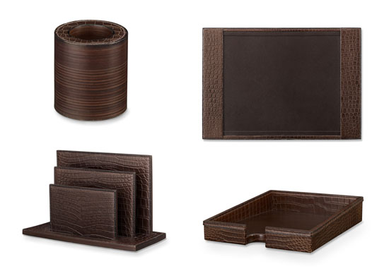 Hermès Crocodile Desk Set Collection is Simply Staggering
