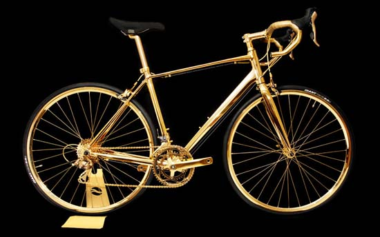 Goldgenie Unveils 24 Karat Gold-Plated Bicycle