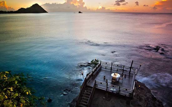 Cliff at Cap in St Lucia