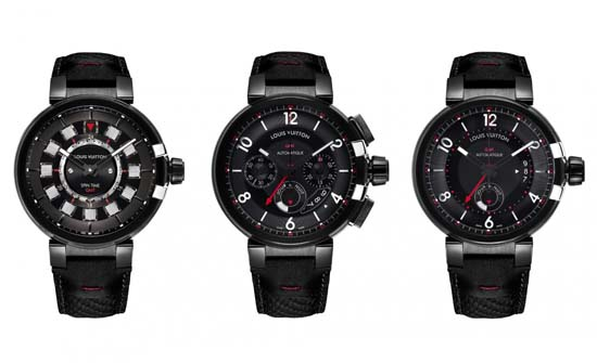 Louis Vuitton Tambour éVolution GMT In Black