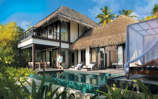 Outrigger-Konotta-Maldives-Resort-Double-Beach-Pool-Villa-Exterior