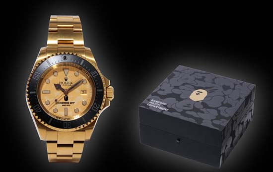 A Bathing Ape Black X Bamford Watch Department Rolex Deepsea Luxuryes