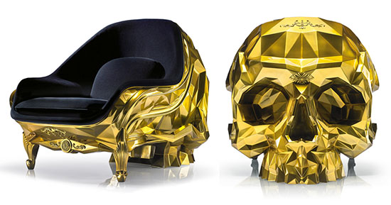 Harow Unveils A $500K Golden Skull Armchair