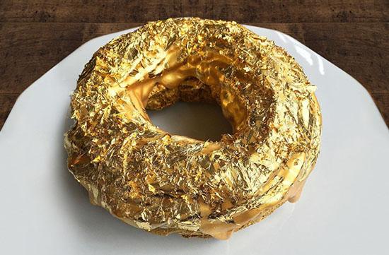 The 24kt Golden Cristal Ube Donut