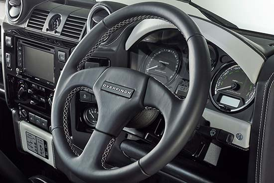 Defender 40th Anniversary by Overfinch steering wheel