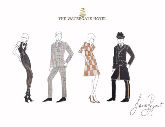 The Watergate Hotel Uniforms by Janie Bryant