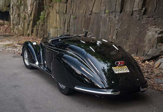 1939 Alfa Romeo 8C 2900B Lungo Touring Spider back