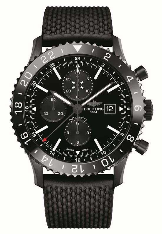 Breitling Chronoliner Blacksteel 01