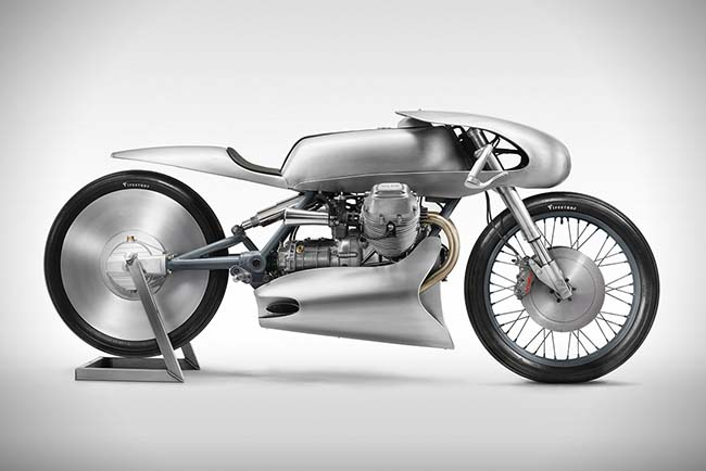 "2018 Moto Guzzi Le Mans Mk II ""Airforce"" by Death Machines of London"