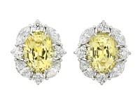 Yellow Sapphire Earrings by Tiffany & Co.