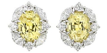Yellow Sapphire Earrings by Tiffany & Co.