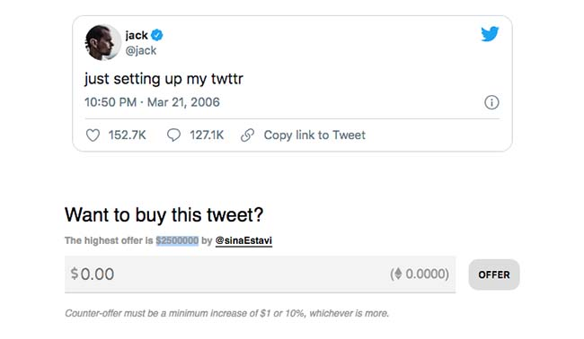 Jack Dorsey First Tweet