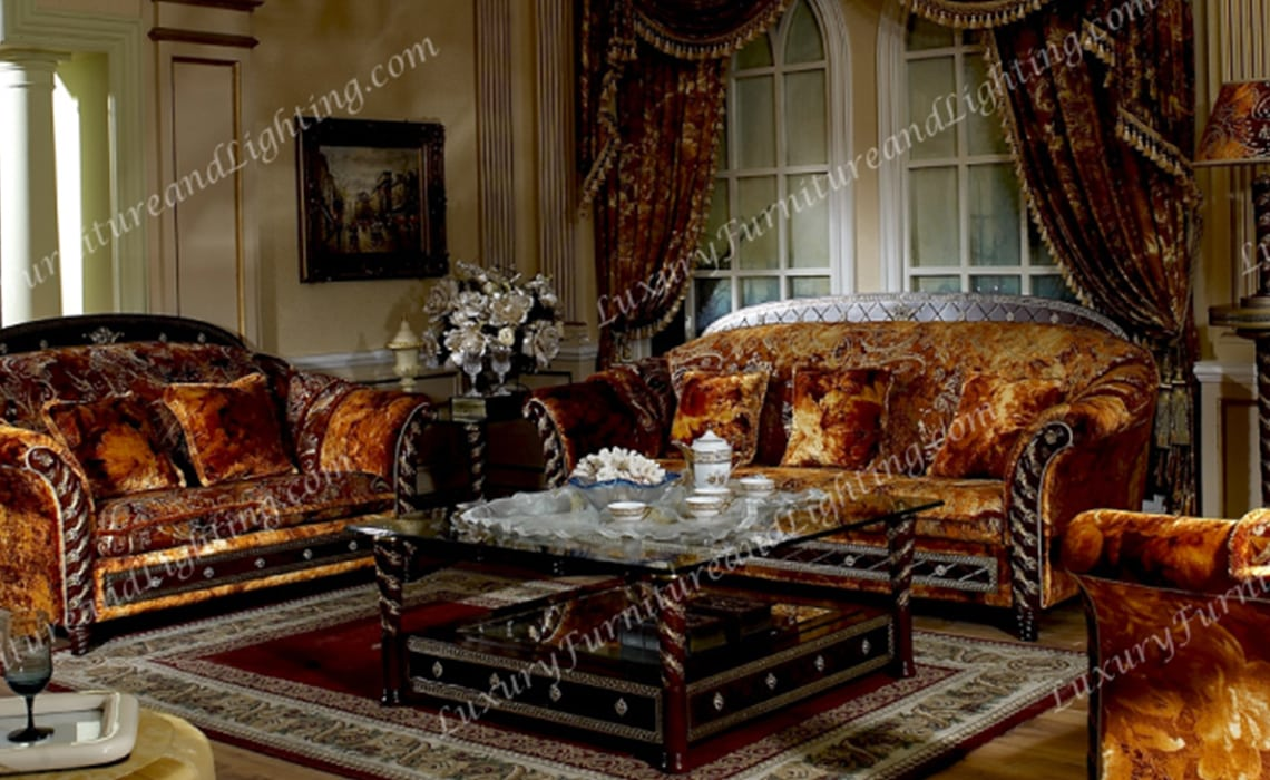 italian style living room furniture for small rooms zeus walnut gold we carry over 13 different sets chaises coffee tables and more