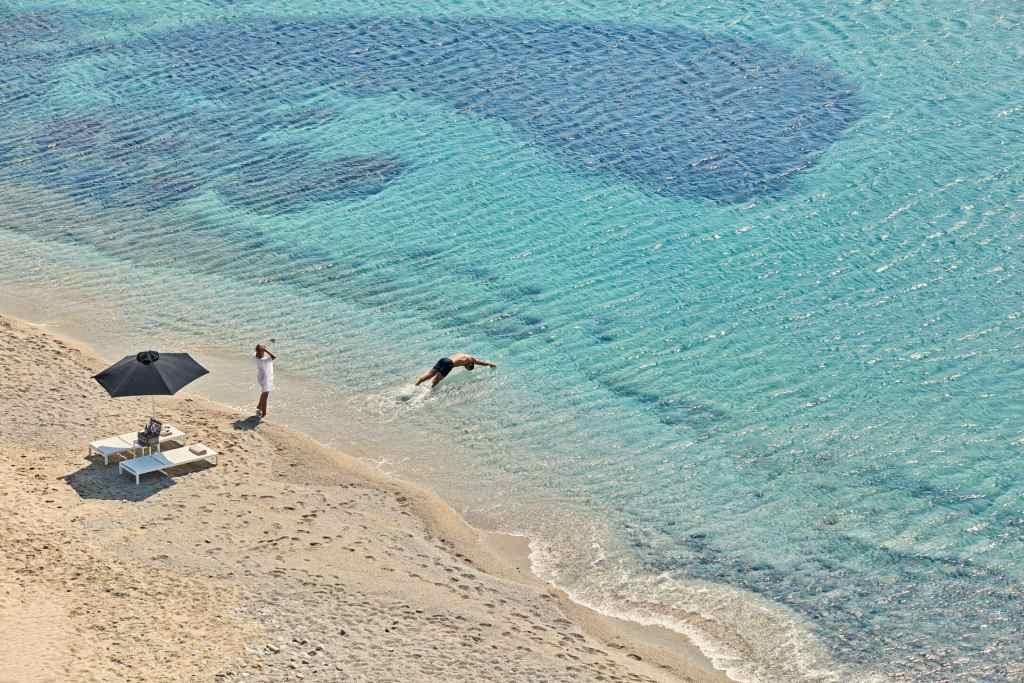 Kalo Livadi Beach, near Archipelagos Luxury hotel Mykonos