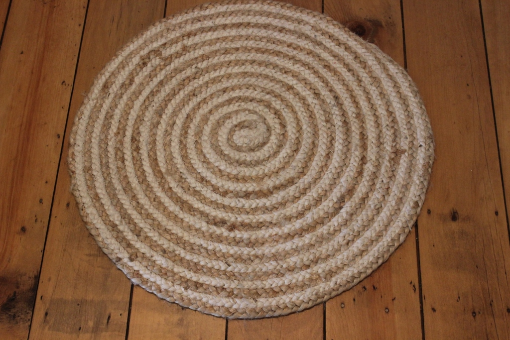 best colour for living room india led lights round floor mat: cream rug natural jute woven braided ...
