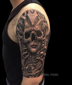 Luxury Ink Bali Tattoo Gallery Biomechanical Style100