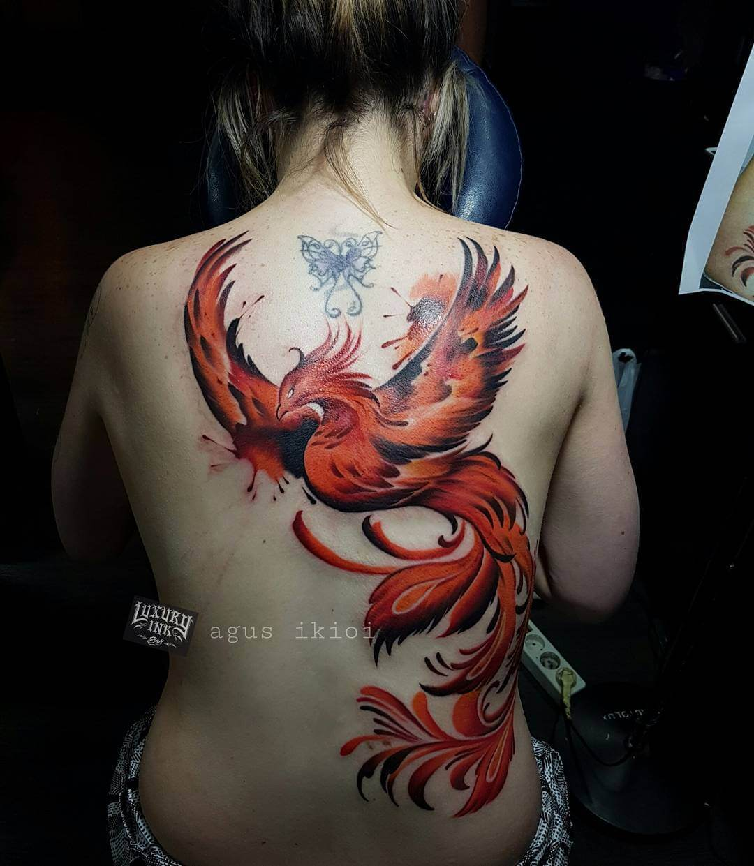 Luxury Ink Bali Tattoo Gallery Watercolor style103