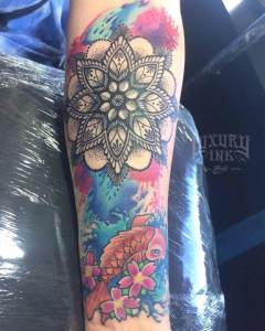 Luxury Ink Bali Tattoo Gallery Watercolor style104