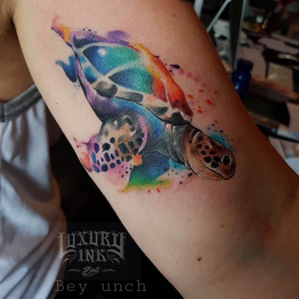 Luxury Ink Bali Tattoo Gallery Watercolor style110