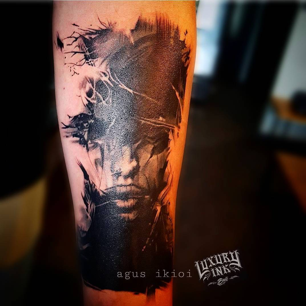 Luxury Ink Bali Tattoo Gallery Watercolor style113