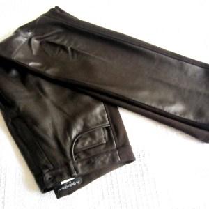Absolu Brown Leather Pants