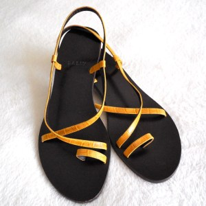 Bally Yellow Leather Strappy Sandals