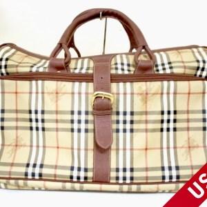 Burberry Haymarket Check Duffel Bag