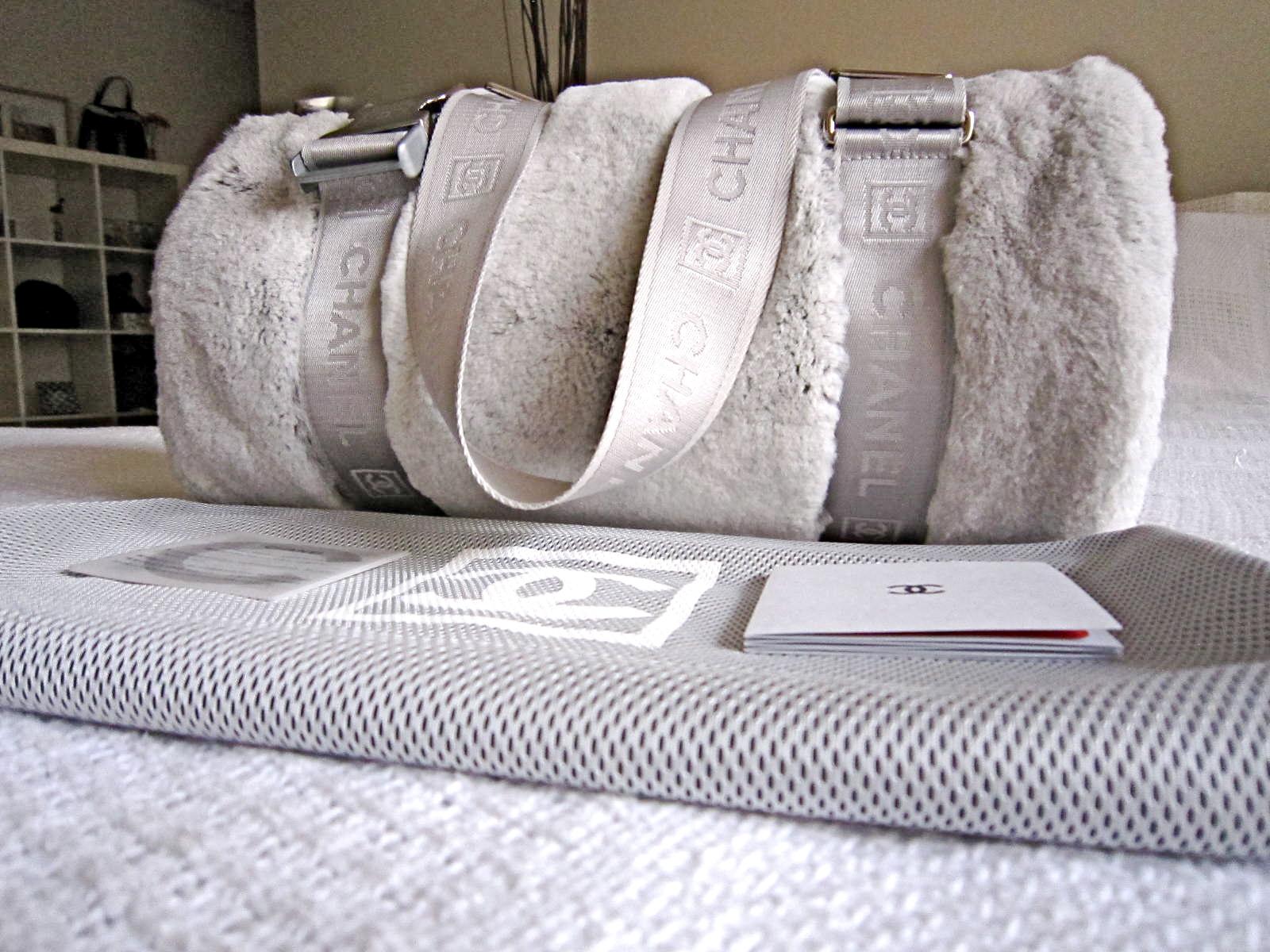449f2377bf Chanel Limited Edition Grey Rabbit Fur Duffel Bag - Luxurylana ...