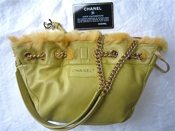 Chanel Rare Reversible Fur & Leather Shoulder Bag