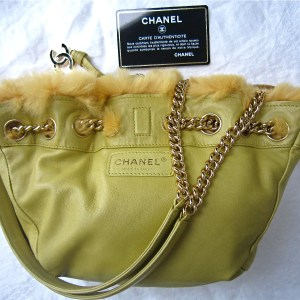 Chanel Rare Reversible Fur & Leather Shoulder Bag