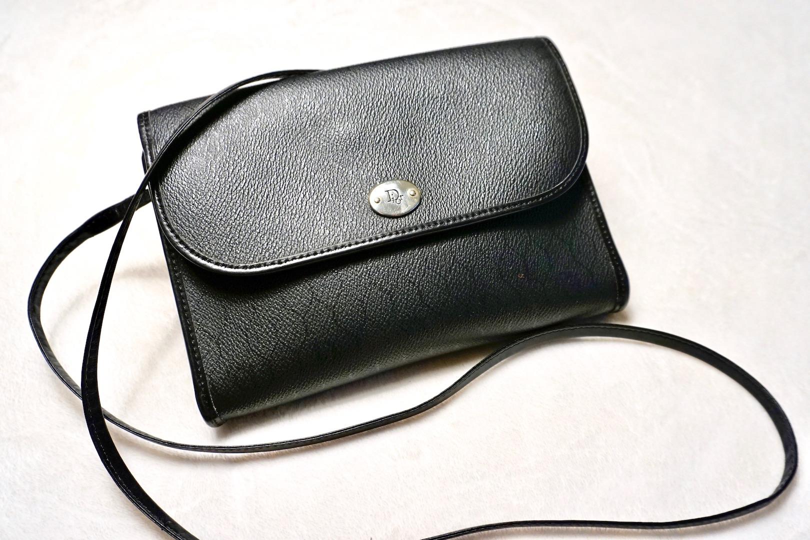 aa36602e6 Christian Dior Vintage Black Crossbody Bag - Luxurylana Boutique