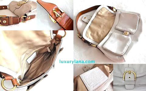 Coach White Leather Hobo Bag - Luxurylana Boutique c92da3c3a0901