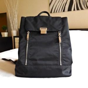 DKNY Signature Black Nylon Backpack