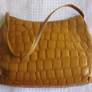 Desmo Yellow Croc Shoulder Bag