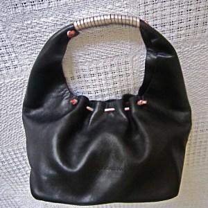 Dolce & Gabbana Black Leather Hobo Bag