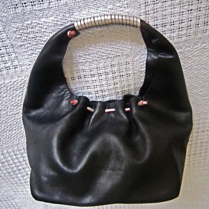 Dolce & Gabbana Black Leather Hobo Bag
