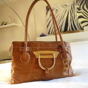Dolce & Gabbana Tan Crocodile Leather Tote Bag