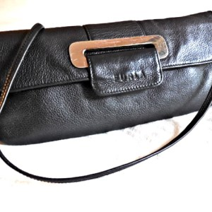 Furla Black Leather Clutch