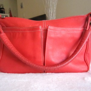 Furla Red Leather Shoulder Bag