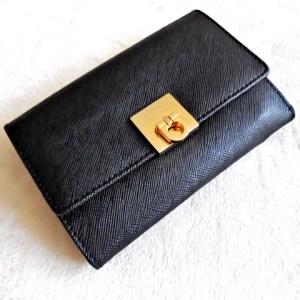 Gancini Black Leather Bi-Fold Wallet