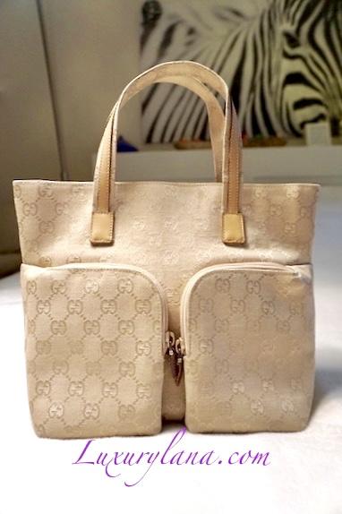 2bbcfe4c2 Gucci Canvas GG Tote Bag - Luxurylana Boutique