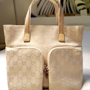 Gucci Canvas GG Tote Bag