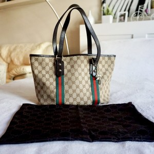 Gucci GG Canvas Charm Tote Bag