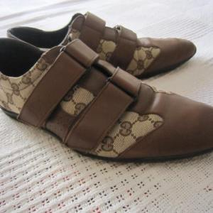 Gucci Mens Brown GG Guccissima Leather Shoes